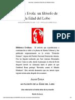 Julius Evola- un filósofo de la Edad del Lobo | Biblioteca Evoliana