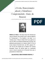 Julius Evola, Reaccionario Radical y Me...lain. de Benoist | Biblioteca Evoliana
