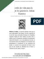 Un estilo de vida para la casta de los .... Julián Ramírez | Biblioteca Evoliana