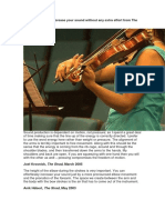 Advice on how to increase your sound without any extra effort from The Strad Archive.docx