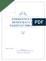 Emergence of Democracy in Pakistan 1988-1999.docx