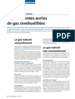 Differentes Sortes de Gaz Combustibles