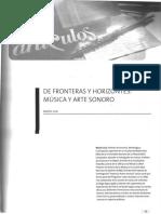 De Fronteras y Horizontes Música y Arte Sonoro