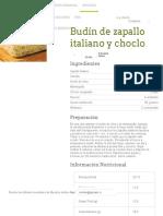 Budín de Zapallo Italiano y Choclo