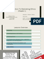 Lectures (1,2) Marketing Ethics and Society (Chap-1)