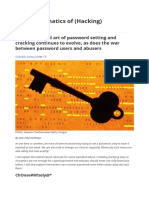 The Mathematics of (Hacking) Passwords