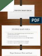 4_identifying Main Ideas