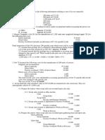 Activity - Materials Costing
