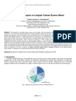 Design and Analysis of a Kaplan Turbine Runner Wheel