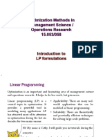 LP Formulation MIT