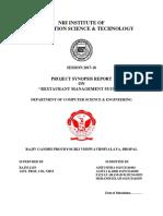 Final Report - Restaurant Management System