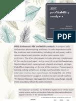 ABC Profitability Analysis