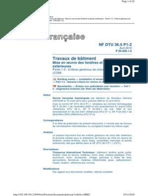 PDF 36.5 TÉLÉCHARGER DTU