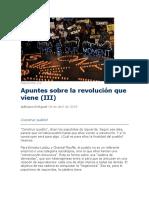 Apuntes Sobre La Revolución Que Viene (III)
