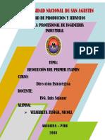 Resolucion Del Primer Examen de Direccion Estrategica-nicoll Vizarreta