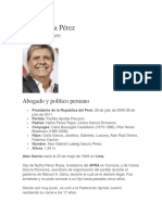 Biografias de Alan Garcia Perez