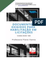 E-book Documentos de Habilitação Em Licitações