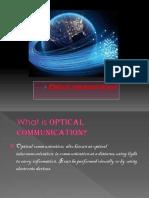 ppt on optical communication