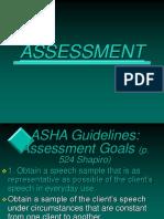 Assessment Goals in Stuttering