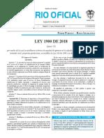 Ley 1900 de 2018 (Establece Criterios de Equidad de Géneros en La Adjudicación de Las Tierras Baldías)