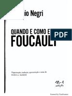 [NEGRI] Um Novo Foucault_quando e Como Li Foucault