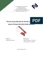 Proceso de Produccion de Chorizo Relleno Con Queso Desde Matanza