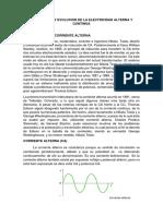 Desarrollo y Evolucion de La Electricidad Alterna y Continúa