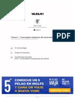 Tema 1 - Conceptos Básicos de Inmunología