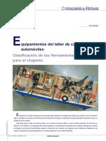 Equipamiento para taller de carroceria del automovil
