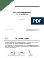 4 Bar Linkage Analysis