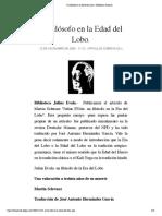 Un filósofo en la Edad del Lobo. | Biblioteca Evoliana