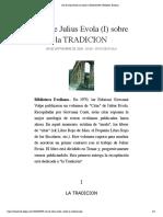 Citas de Julius Evola (I) sobre la TRADICION | Biblioteca Evoliana.pdf