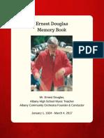 Ernest Douglas AHS Memory Book