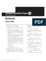 Science Sample Paper 15 10th