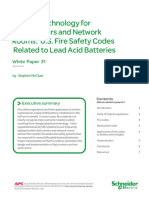 31 Battery Technology for Data Centers and Network Rooms- US Fire Safety Codes Related to Lead Acid Batteries