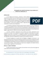 Reglamento Interno comite de seguridad industrial MCI Corporacion