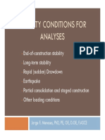 3 Stability Conditions for Analysis