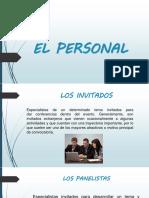 4. El Personal y La Agenda