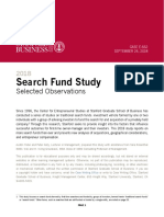 2018 Search Fund Study Selected Observations