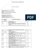 Planificare calendaristică - clasa a VIII-a