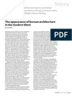 The appearance of Korean architecture in the modern West
