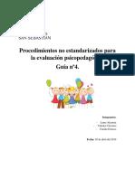 Procedimientos No Estandarizados Para La Evaluación Psicopedagógica Guia 4