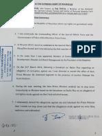 Affidavit Dayal Demission Force