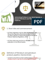 Authorizing Entities to Lay, Build Operate Petroleum and Petroleum Pipelines