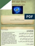 Islam dan ilmu pengetahuan.ppt