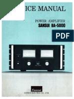 Sansui BA 5000 Service Manual