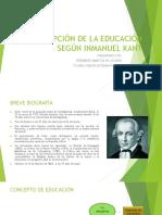 La Concepción de La Educación Según Manuel Kant Fernandez-ticona