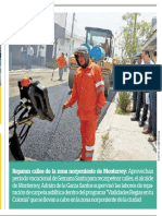 20-04-19 Reparan calles de la zona norponiente de Monterrey