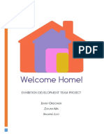 exhibition managment - welcome home
