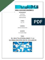 Multilateralismo y Globalización en El Ecuador